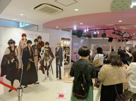 サイバードのファンイベントの会場ではキャラクターのパネルの写真撮影もできる(東京・渋谷)